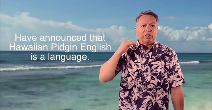 hawaii pidgin english language andy bumatai