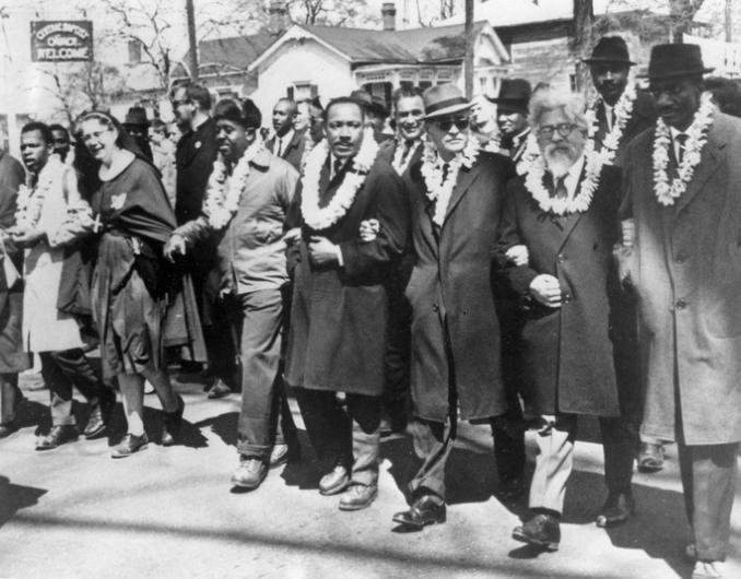MLK Selma march Hawaii leis