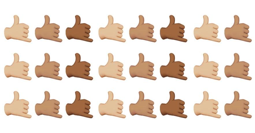shaka emojis hawaii