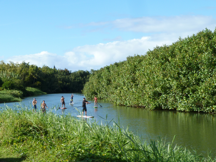hanalei river kauai standup paddleboard