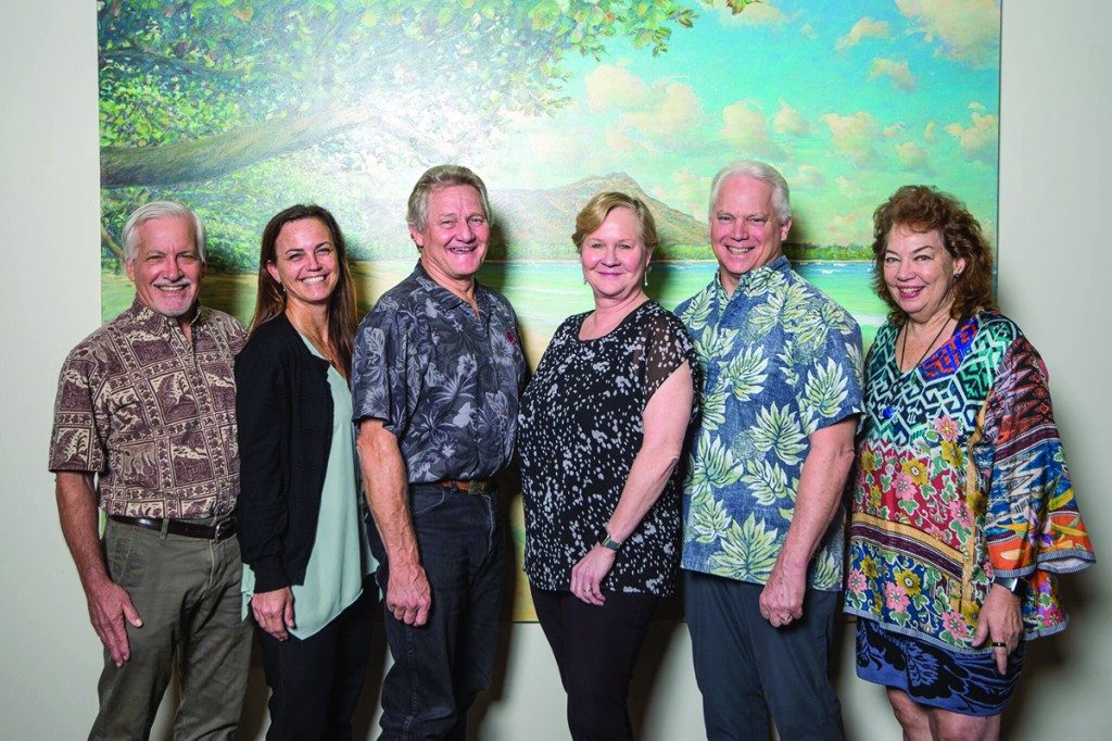 "Atherton Family Foundation's current board of directors: (from left to right) Paul F. Morgan, Juliette K. Sheehan, Herbert M. ""Tim"" Richards, III, Patricia R. Giles, Frederick W. Rohlfing, III, Robin S. Midkiff."