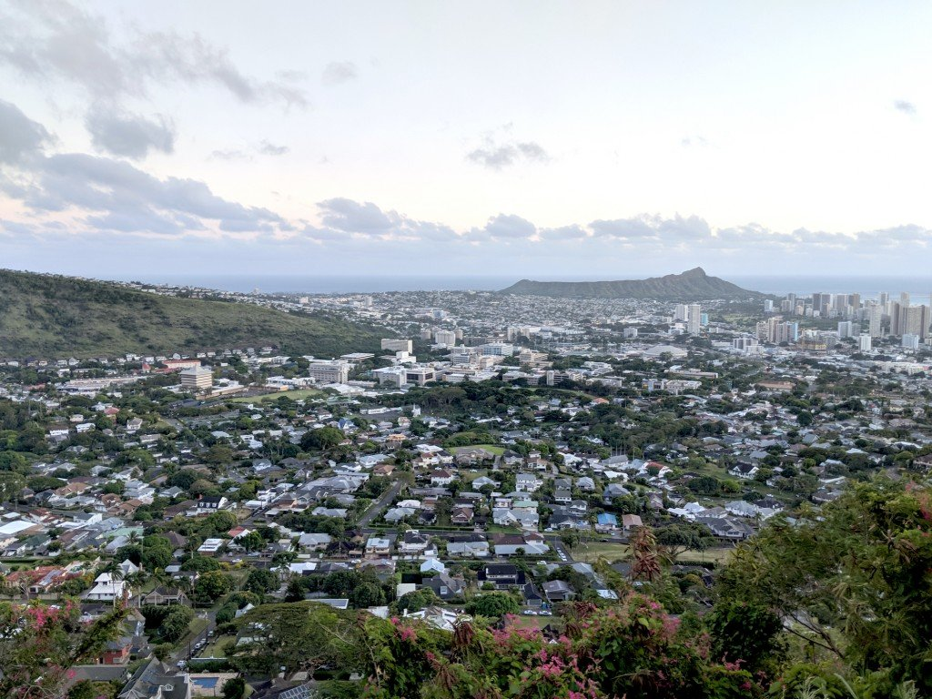 Diamondhead And The City Of Honolulu, Kaimuki, Kahala, And Oceanscape On Oahu