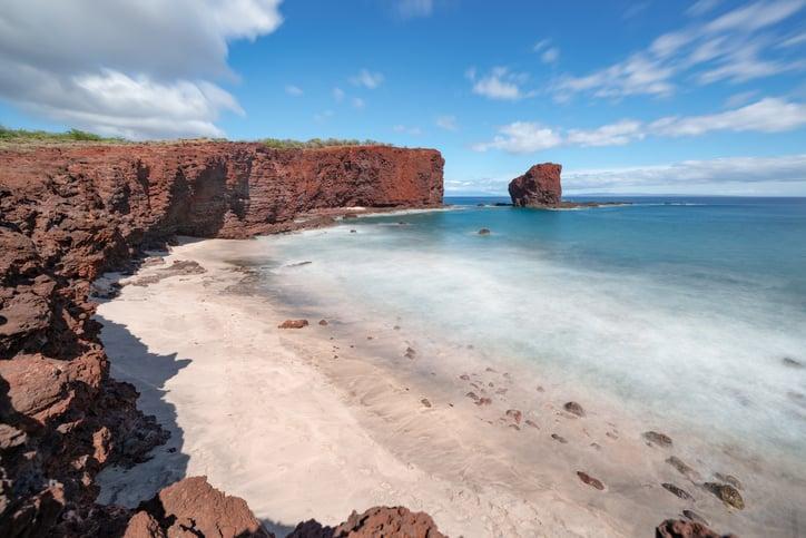 Sweet Heart Eock (puu Pehe) On The Island Of Lanai, Hawaii