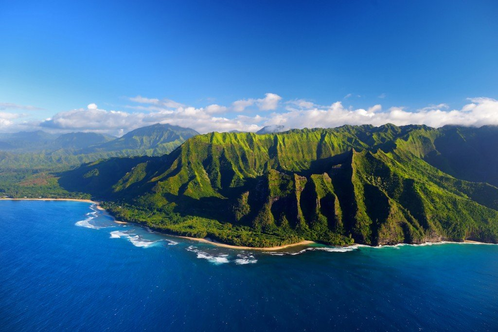 Aerial View Of Spectacular Na Pali Coast