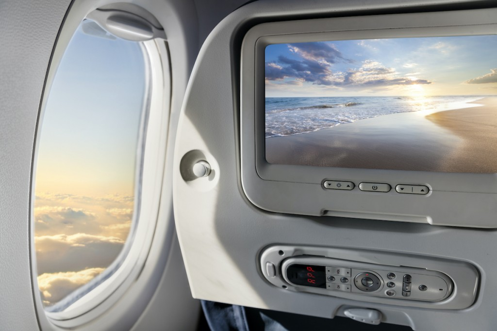 Concept Of Airplane Travel To Exotic Destination