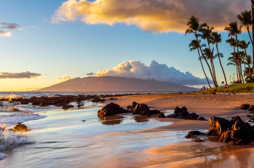 Sunset On A Maui Beach