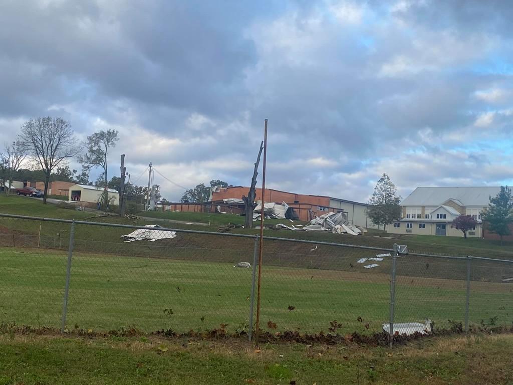 storm damage near Zalma MO