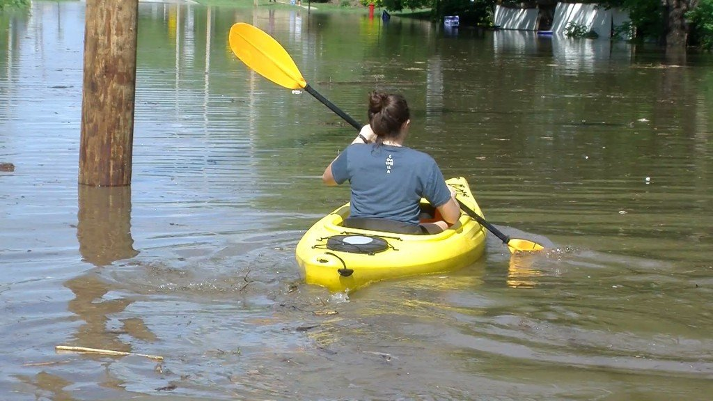 Woman In Kayake In Lincoln Street