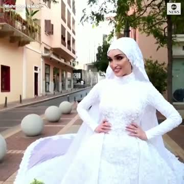Beirut Blast: A Bride Posing For A Photos In Her Wedding Dress Has Her Session Cut Short In A Terrifying Manner As The Shock Wave From The Explosion That Rocked Beirut Hits.