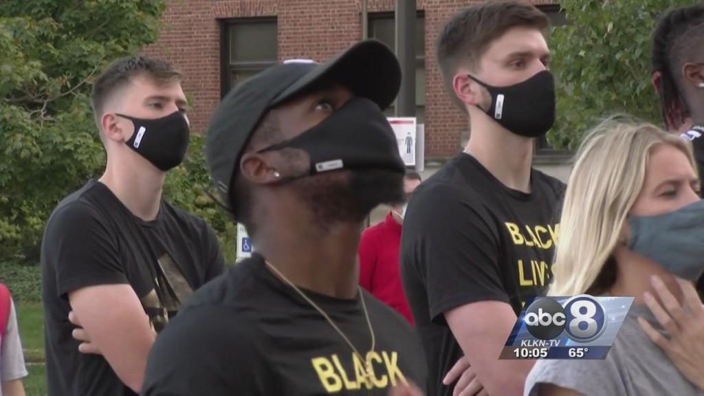 Nebraska Student Athletes Gather For Social Change