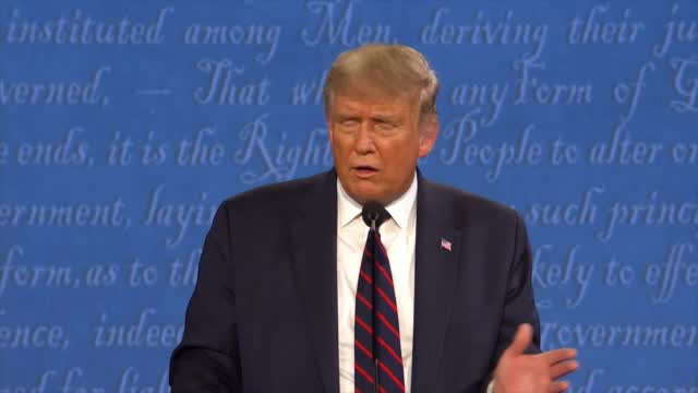President Trump Comments On The Return On The Big Ten During The Debate