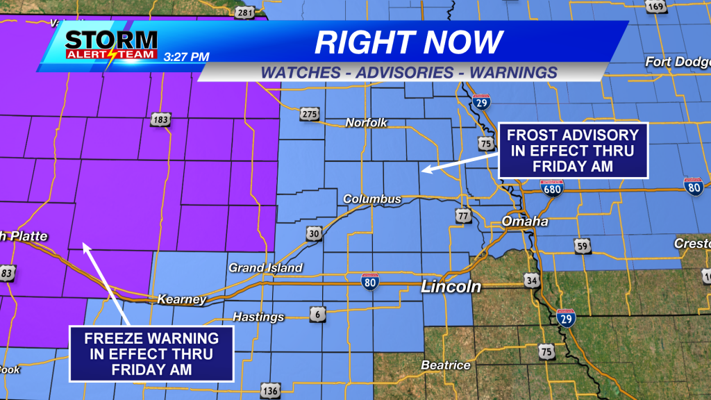 Frost Advisory and Freeze Warning
