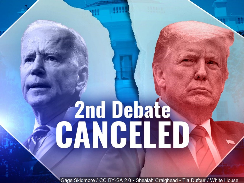 presidential debate canceled