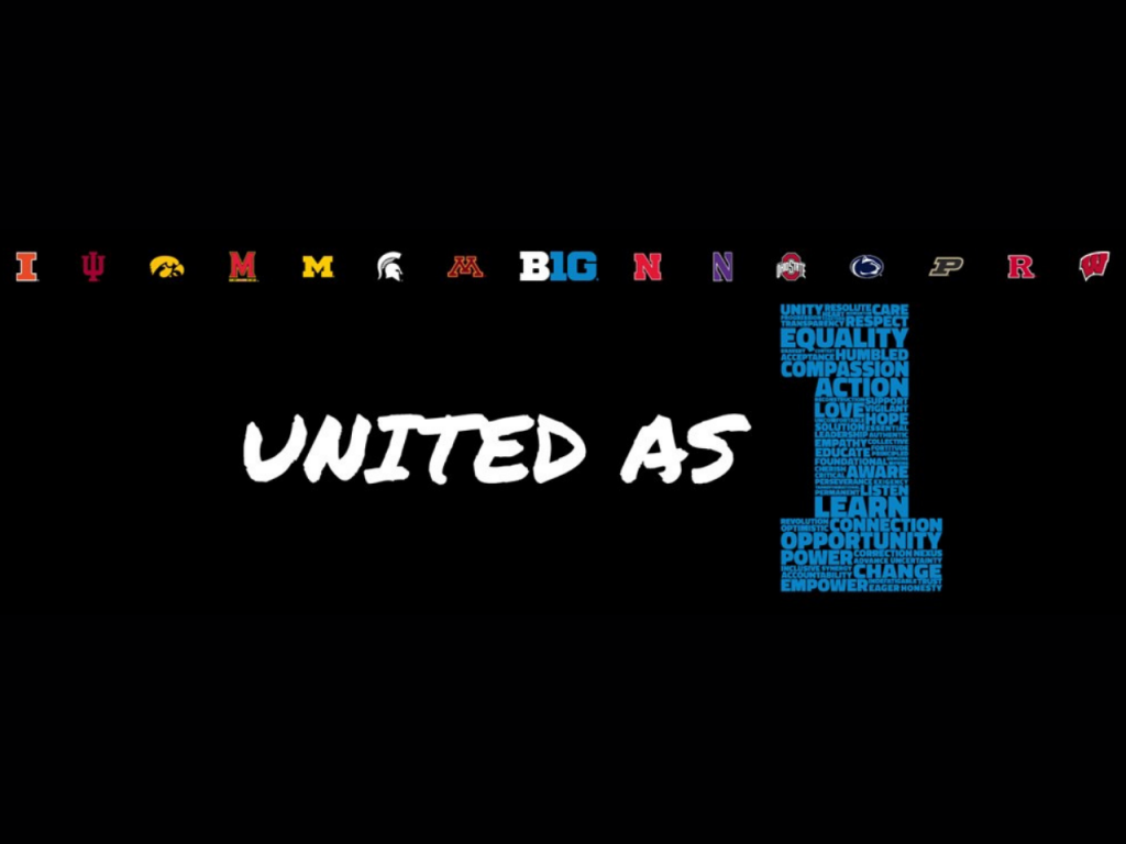 Big Ten 'United As One' logo
