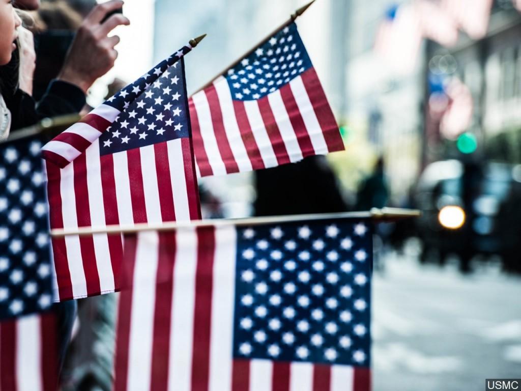Veterans Day Parade Stock Photo