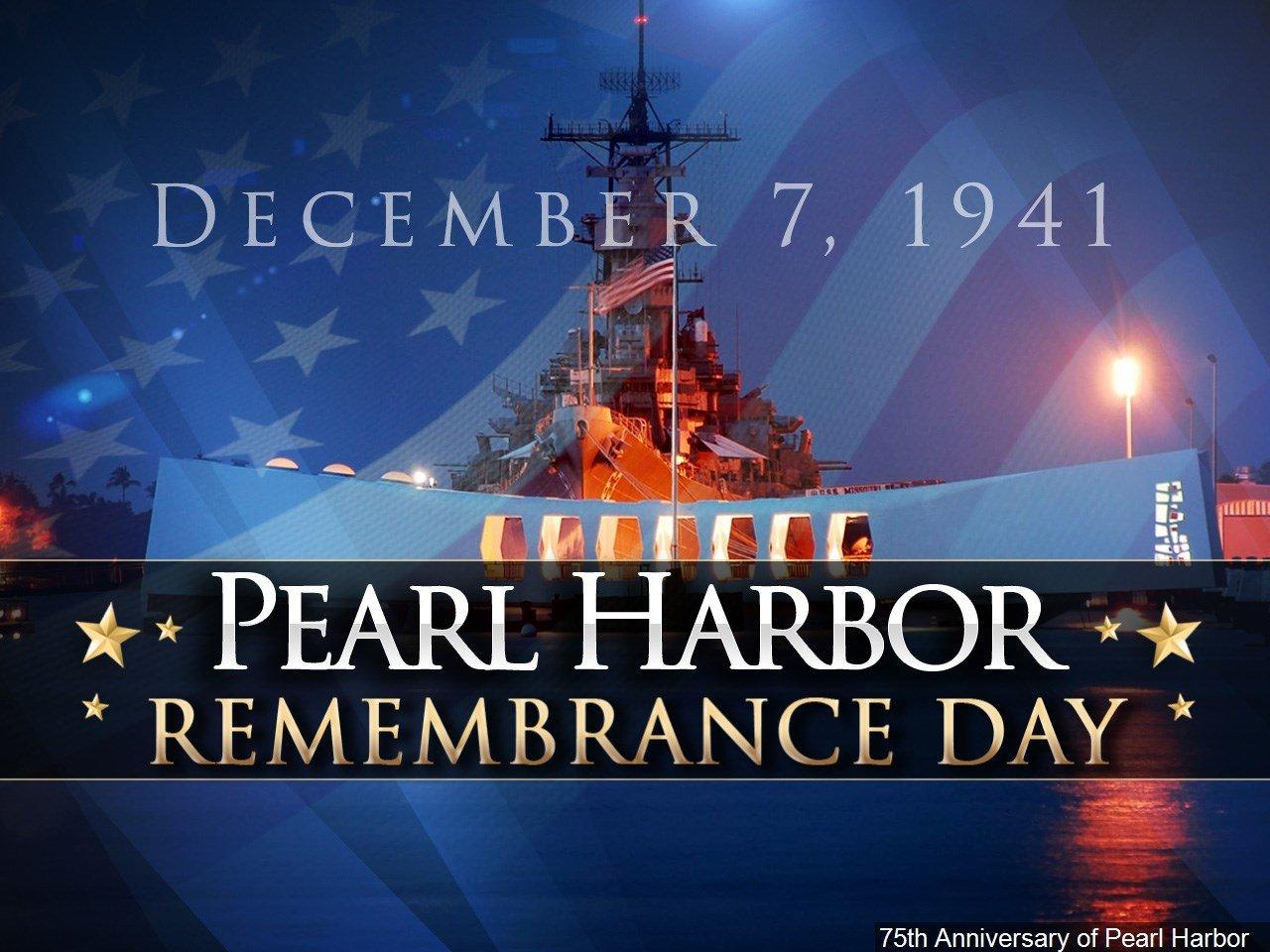 Pearl Harbor Remembrance • Dec 7 • Annual Anniversary