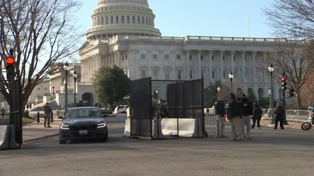 Raw Video Of The U.s. National Guard Outside The Capitol