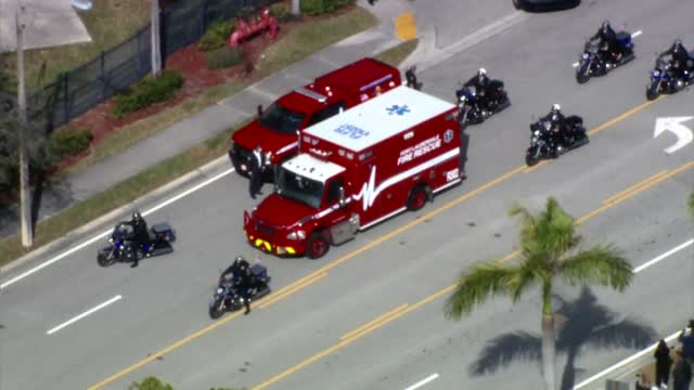 Fbi Deadly Shooting Procession To Hospital