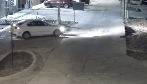 Crime Stoppers: Video Of A White Car Ramming Into A Fence At Lincoln High School