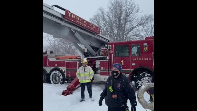 Water Rescue As Truck Plunges Into Frigid Waters