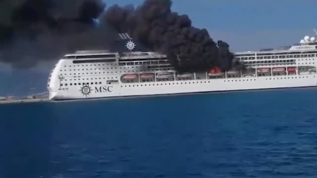 Cruise Ship Catches Fire While Docked In Greece