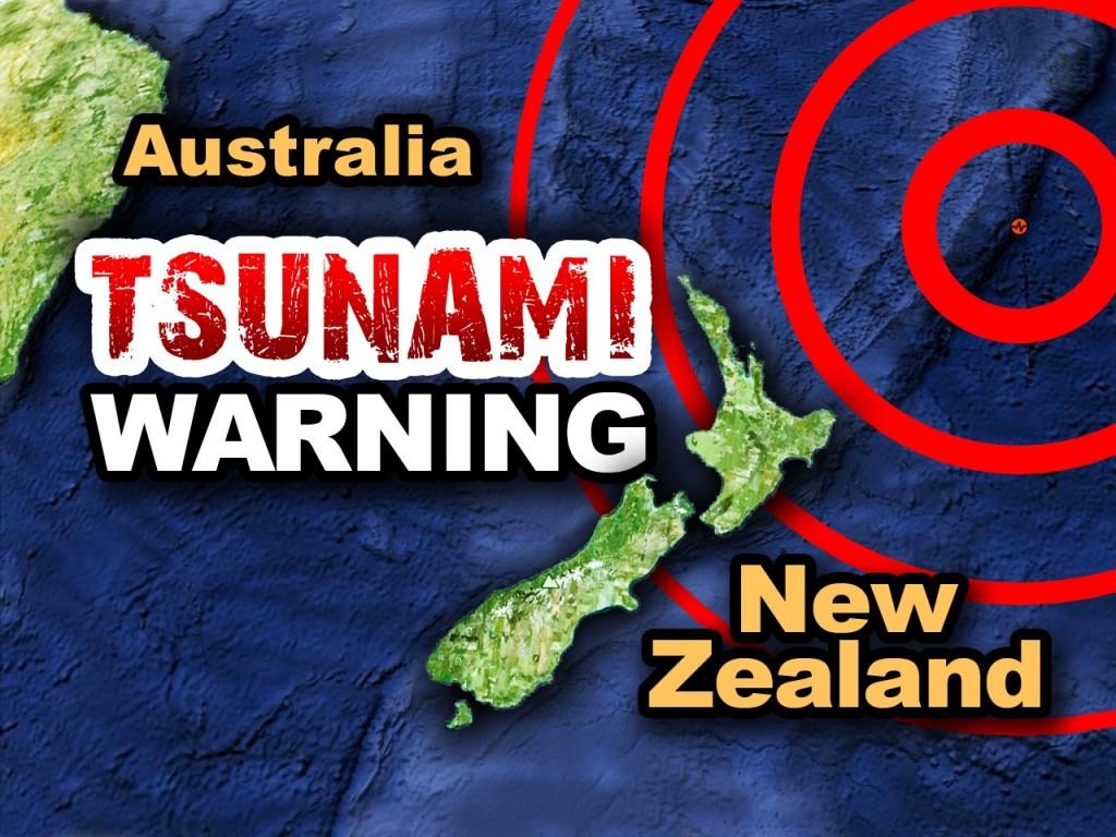 Tsunami warning, new zealand