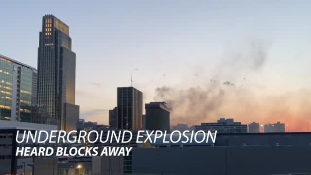 Underground Explosion Near The Doubletree Hotel