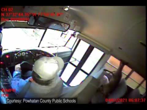 Deer Flies Through A Bus Windshield