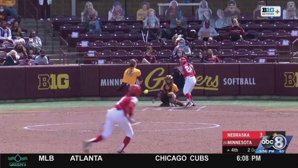Husker Softball Beats Minnesota