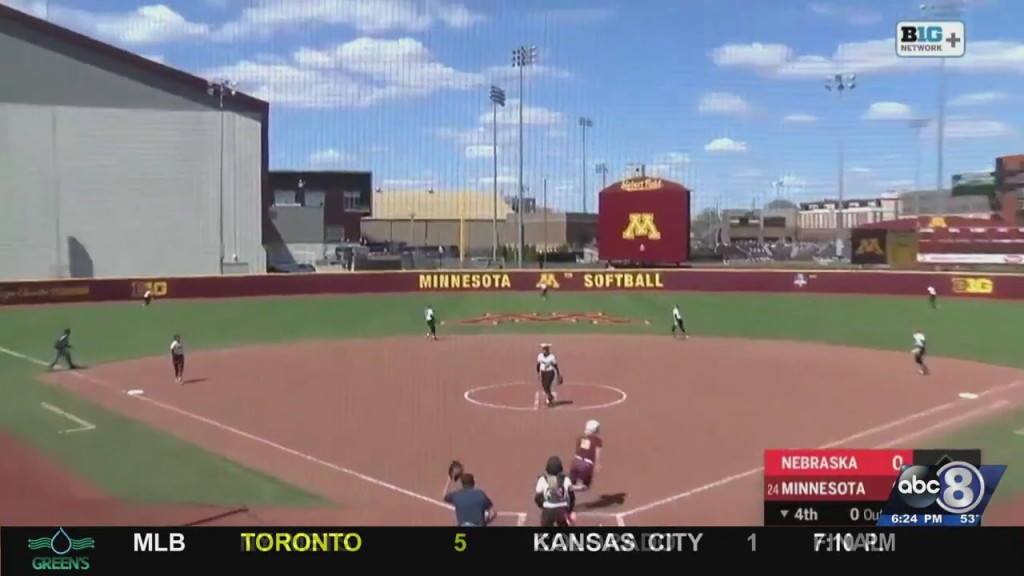 Huskers Swept In Softball Double Header