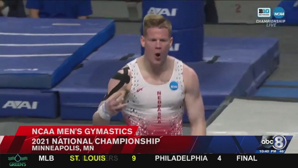 Husker Men's Gymnastics Finish 4th