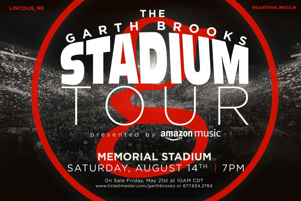 Garth Brooks tour poster