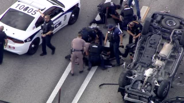 High Speed Chase Ends In A Rollover Crash In Florida