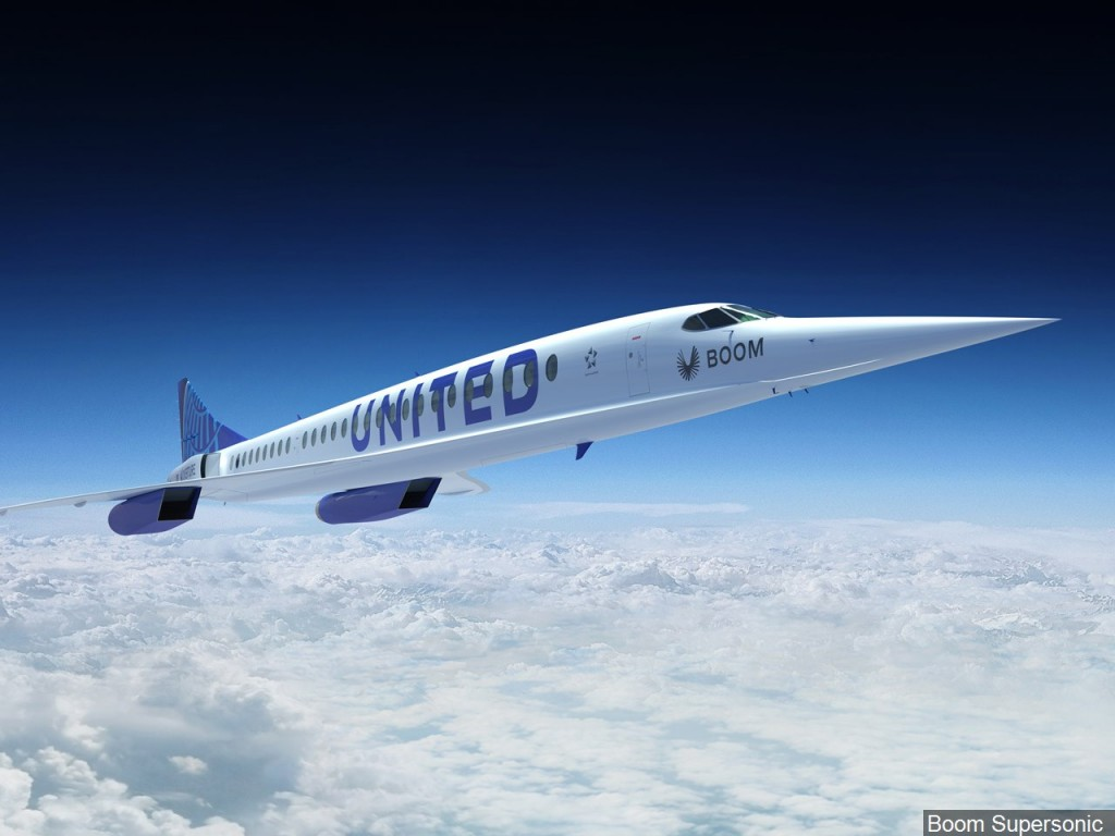 United Airlines Boom Supersonic Jet