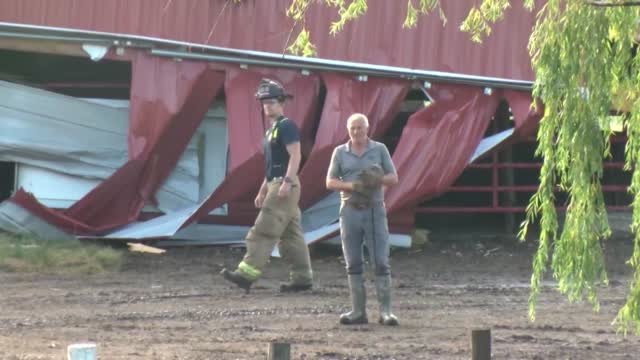 Wisconsin Barn Collapses