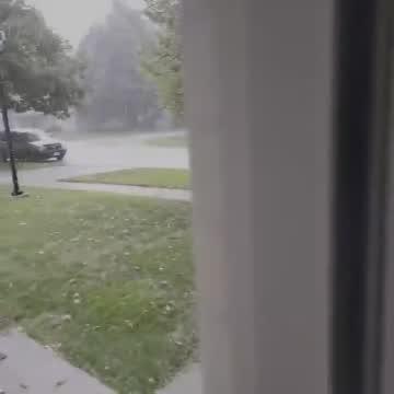 Hail Storm In Stromsburg Tuesday