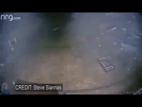 Doorbell Camera Catches Tornado Tearing Through Property
