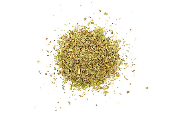 Heap Of Various Green Herbs Isolated On A White Background.