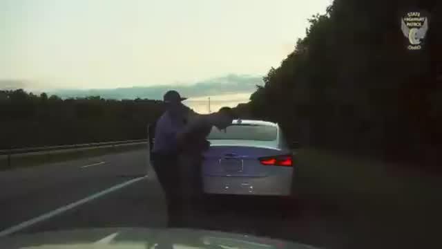Ohio State Patrol Trooper Helps Man Choking On A Bag Of Drugs