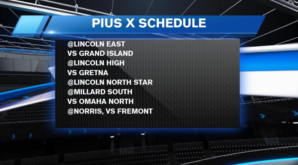 Pius X Schedule