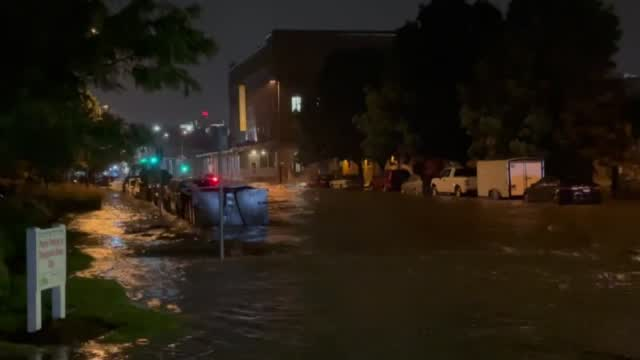 Overnight Storms Cause Flash Flooding In Omaha.