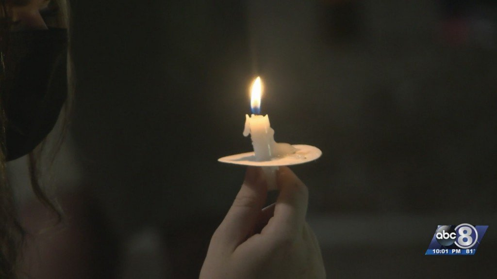 Candlelight Vigil Held At Unl For Sexual Assault Victims