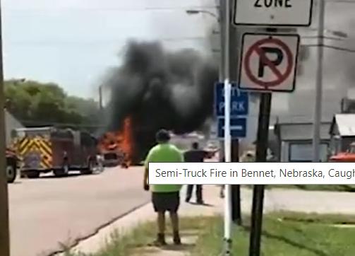 Semi Truck Fire Picture