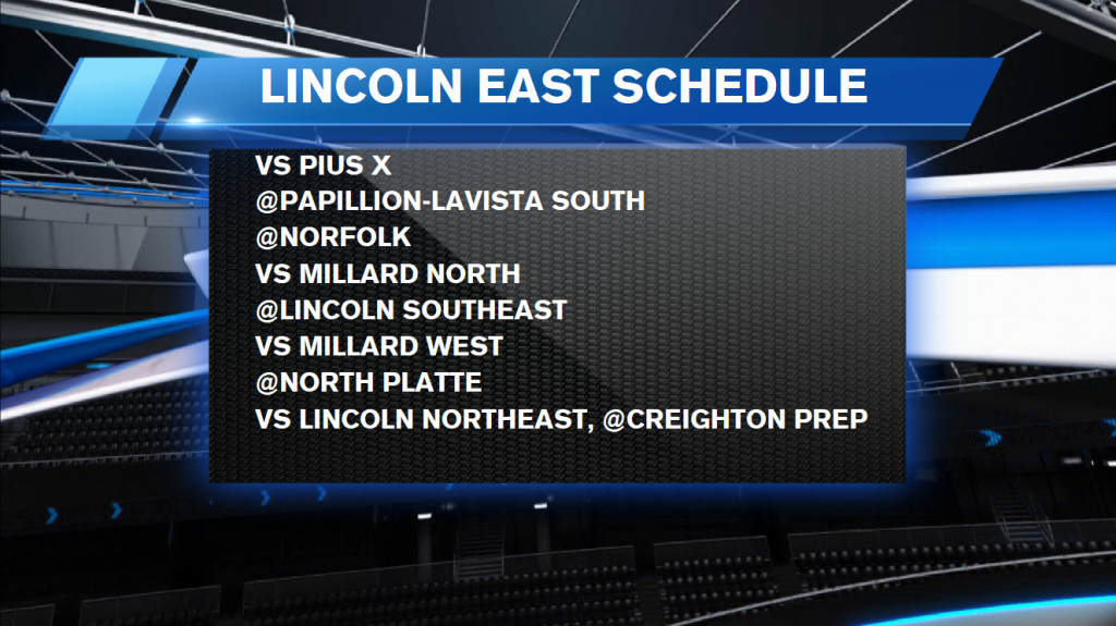Lincoln East Schedule