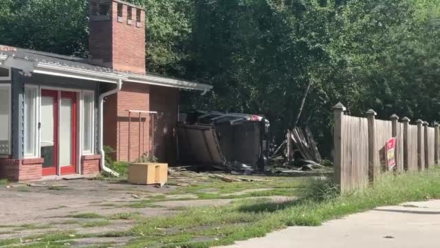 Car Through Fence And Almost Into Home In Lincoln Near 56th & A Streets