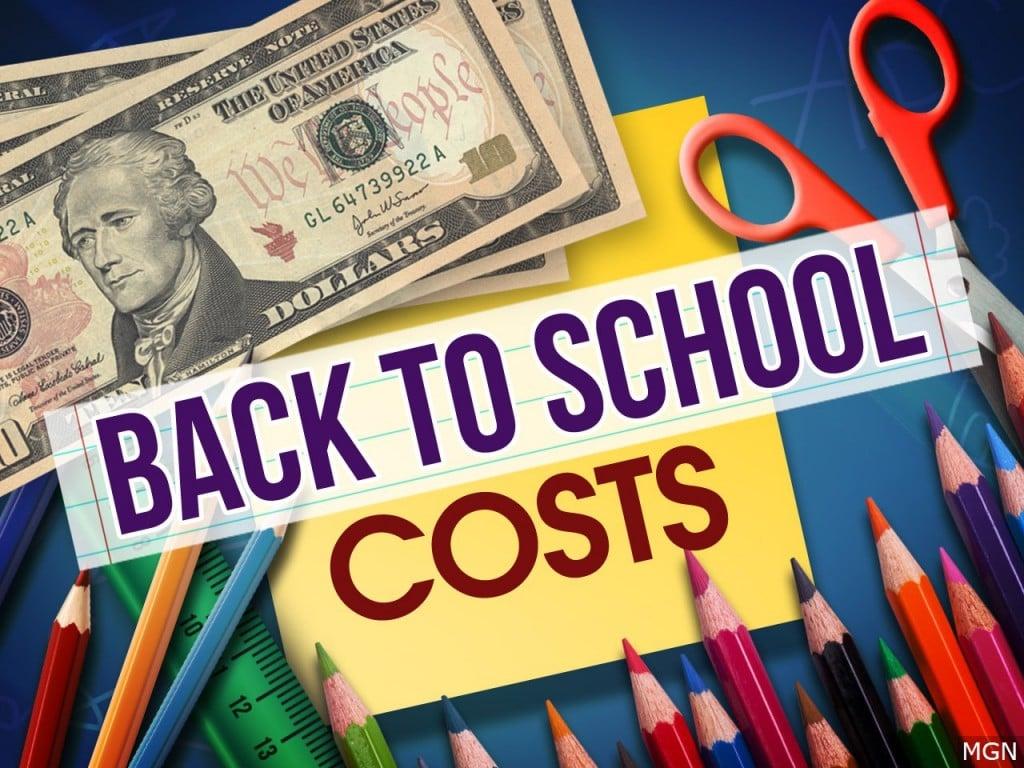 Back To School Costs Spending