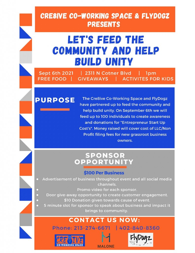 """""""Lets feed the community and help build unity"""""""