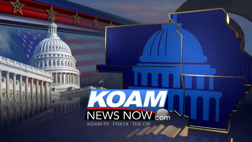 Election graphic with KOAM News Now logo