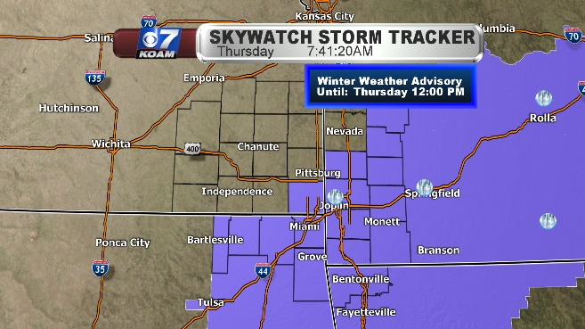 Winter Weather Advisory extended for SWMO & NEOK