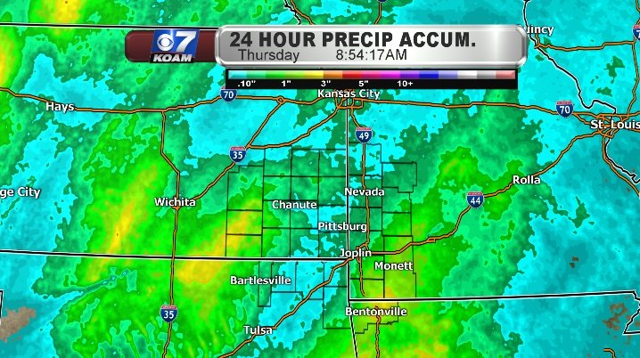 Rain accumulation from Wednesday into Thursday